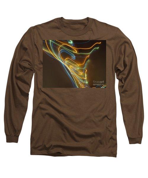 Long Sleeve T-Shirt featuring the photograph Tornado Of Lights. Dancing Lights Series by Ausra Huntington nee Paulauskaite