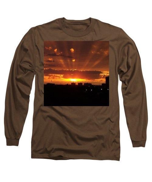 Toronto - Just One Breathtaking Sunset Long Sleeve T-Shirt by Serge Averbukh