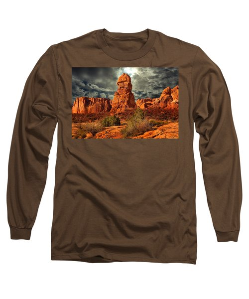 Long Sleeve T-Shirt featuring the photograph Towering Rock by Harry Spitz