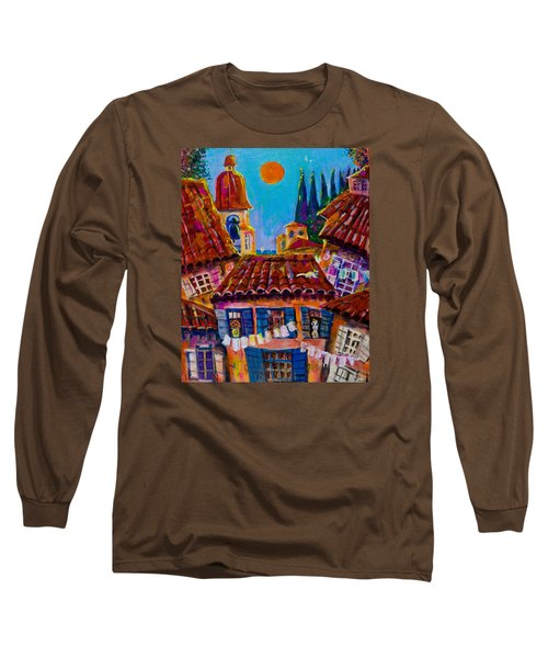 Town By The Sea Long Sleeve T-Shirt by Maxim Komissarchik