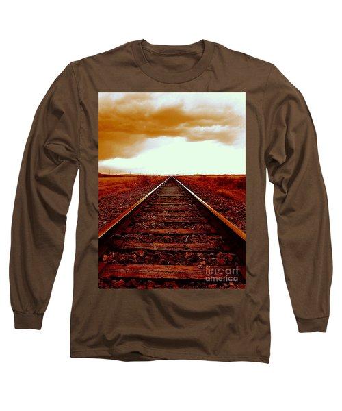 Marfa Texas America Southwest Tracks To California Long Sleeve T-Shirt