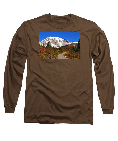 Long Sleeve T-Shirt featuring the photograph Trail To Myrtle Falls 2 by Lynn Hopwood