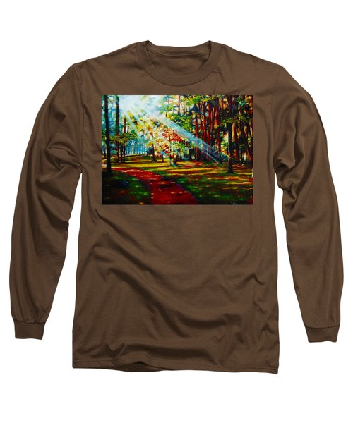 Trails Of Light Long Sleeve T-Shirt by Emery Franklin