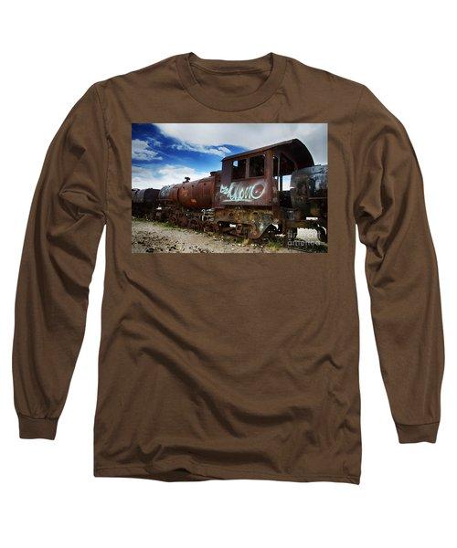 Train Graveyard Uyuni Bolivia 16 Long Sleeve T-Shirt