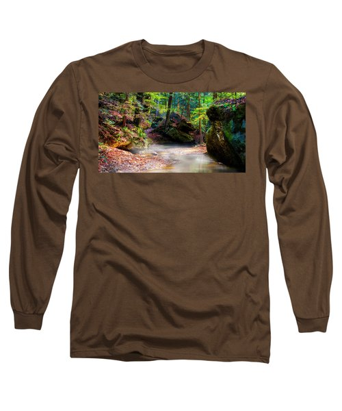 Long Sleeve T-Shirt featuring the photograph Tranquil Mist by David Morefield