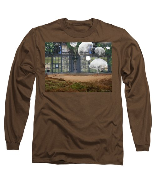 Travels With Jellyfish Long Sleeve T-Shirt by Joan Ladendorf