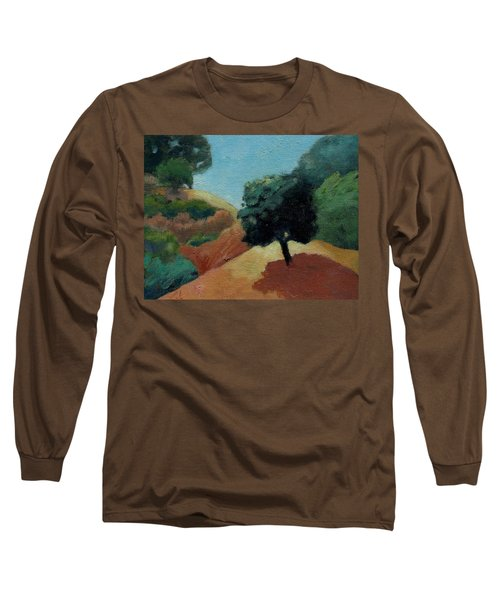 Long Sleeve T-Shirt featuring the painting Tree Alone by Gary Coleman