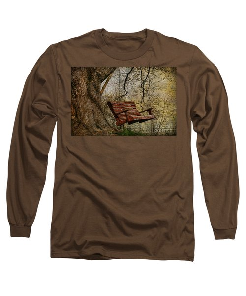 Tree Swing By The Lake Long Sleeve T-Shirt by Deborah Benoit
