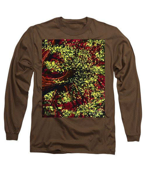 Tree With Red Sky Long Sleeve T-Shirt