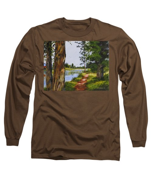 Trees Along The River Long Sleeve T-Shirt