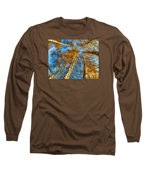 Trees Grow To The Sky Paint Long Sleeve T-Shirt by Odon Czintos