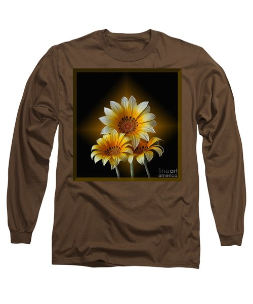 Triple Sunshine Black And Gold Long Sleeve T-Shirt