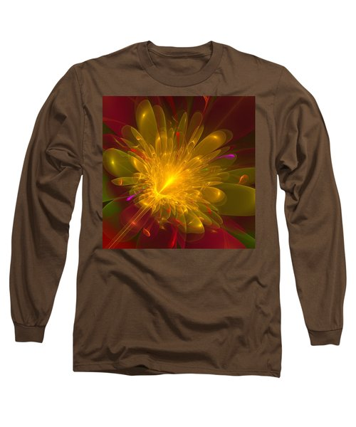 Long Sleeve T-Shirt featuring the digital art Tropical Flower by Svetlana Nikolova