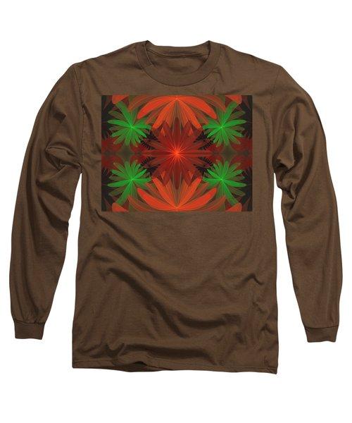 Tropical Flowers Long Sleeve T-Shirt