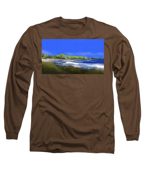 Tropical Island Coast Long Sleeve T-Shirt