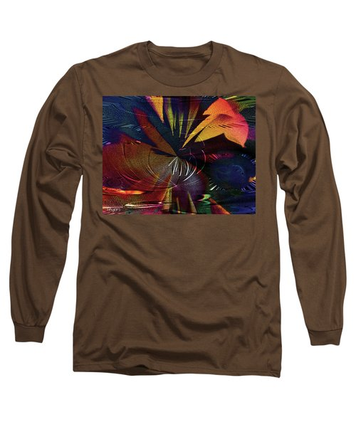 Long Sleeve T-Shirt featuring the digital art Tropicale by Paula Ayers