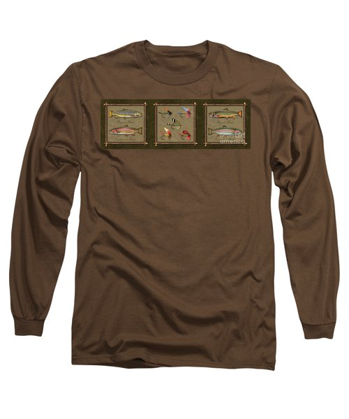 Trout Fly Panel Long Sleeve T-Shirt by Jon Q Wright