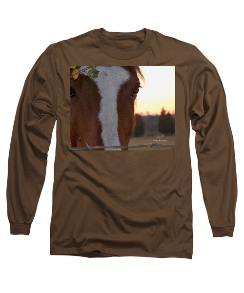 Long Sleeve T-Shirt featuring the photograph Trusting by Betty Northcutt