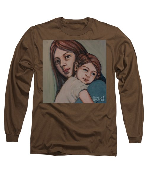 Long Sleeve T-Shirt featuring the painting Trying To Remember by Olimpia - Hinamatsuri Barbu