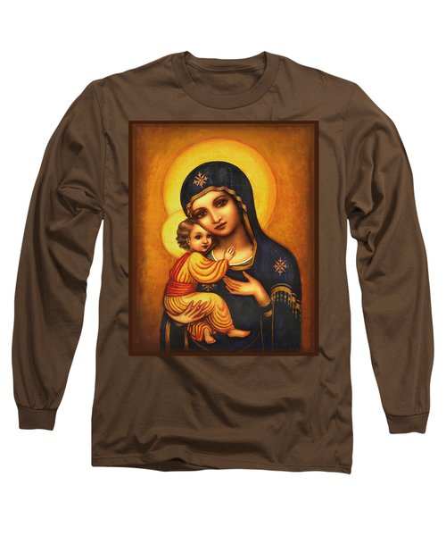 Tryptichon Madonna Long Sleeve T-Shirt by Ananda Vdovic
