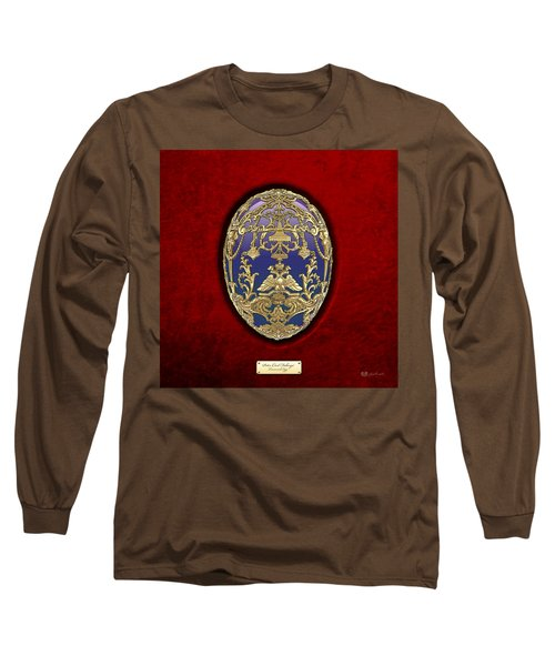 Tsarevich Faberge Egg On Red Velvet Long Sleeve T-Shirt