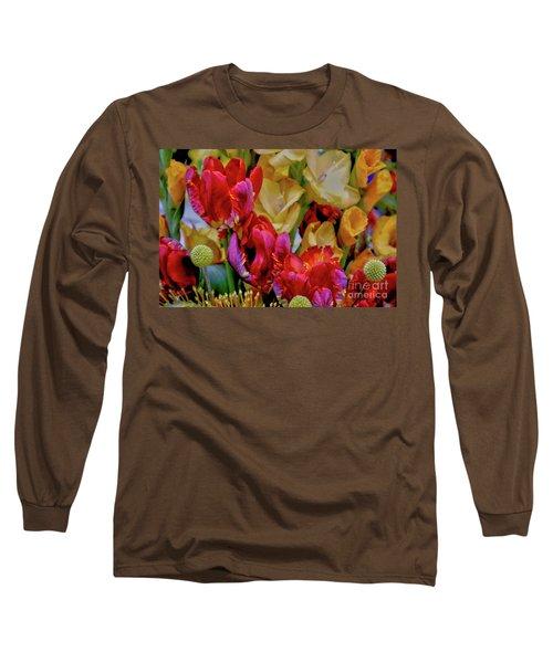Tulip Bouquet Long Sleeve T-Shirt by Sandy Moulder