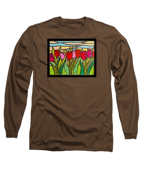 Tulips At Sunrise Long Sleeve T-Shirt