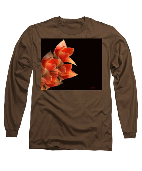 Tulips Dramatic Orange Montage Long Sleeve T-Shirt