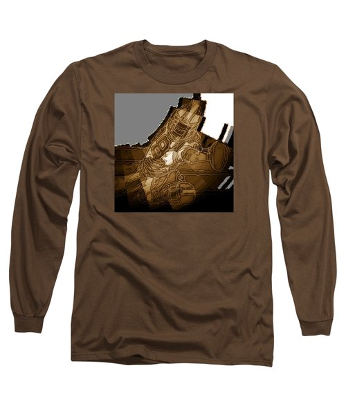 Long Sleeve T-Shirt featuring the mixed media Tumble 2 by Andrew Drozdowicz