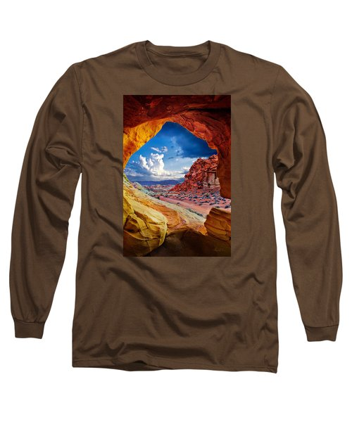 Tunnel Vision Long Sleeve T-Shirt by Renee Sullivan