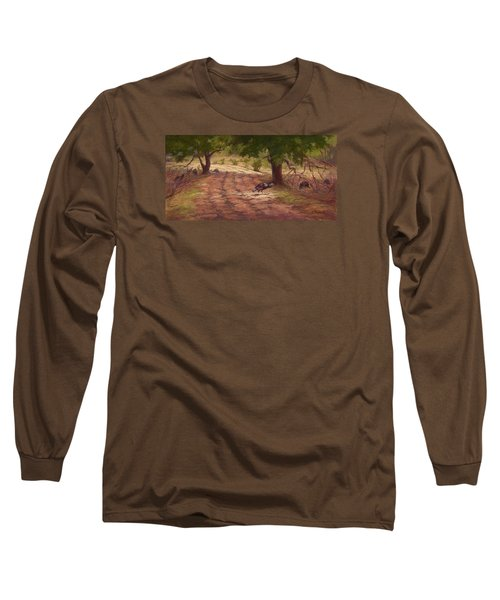 Turkey Tracks Long Sleeve T-Shirt by Jane Thorpe