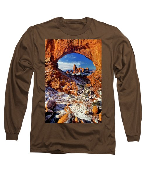 Turret Arch Through North Window Arches National Park Utah Long Sleeve T-Shirt