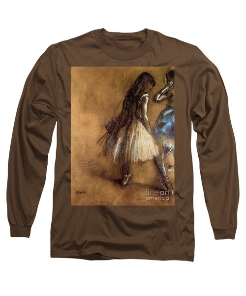Two Dancers Long Sleeve T-Shirt by Degas