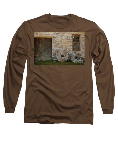 Two Mill Stones Against Building Long Sleeve T-Shirt