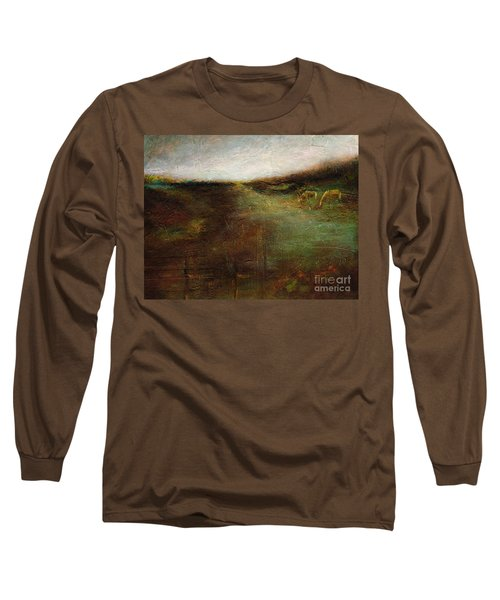 Long Sleeve T-Shirt featuring the painting Two Palominos by Frances Marino