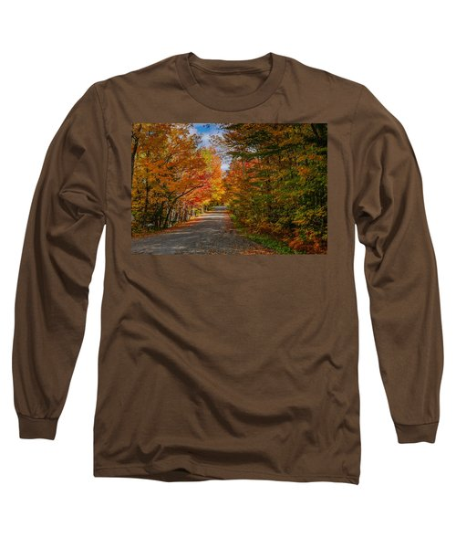 Typical Vermont Dirve - Fall Foliage Long Sleeve T-Shirt