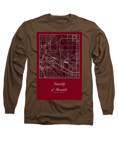 U Of M Street Map - University Of Minnesota Minneapolis Map Long Sleeve T-Shirt
