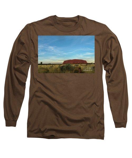 Long Sleeve T-Shirt featuring the photograph Uluru Sunset 02 by Werner Padarin