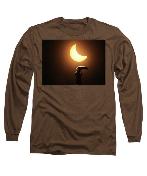 Umbrella Man Eclipse Long Sleeve T-Shirt