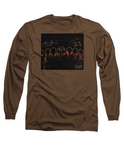 Under A Lighted Bridge In Amsterdam Long Sleeve T-Shirt
