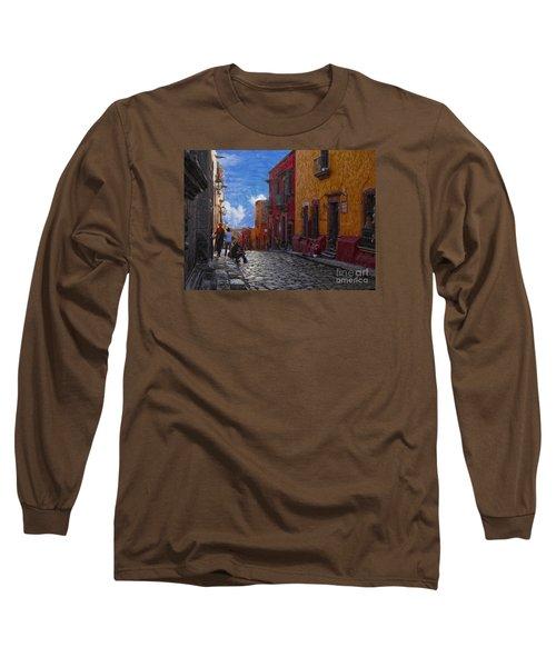 Under A Van Gogh Sky Long Sleeve T-Shirt by John Kolenberg