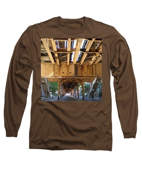 Under The El - 1 Long Sleeve T-Shirt by Ely Arsha