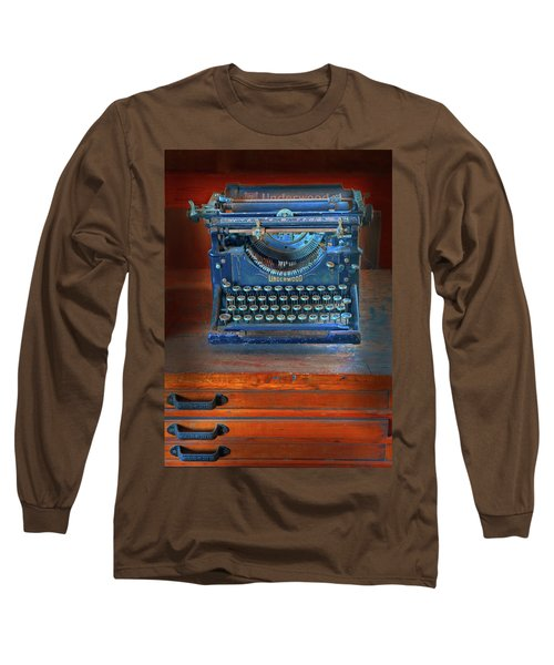 Underwood Typewriter Long Sleeve T-Shirt