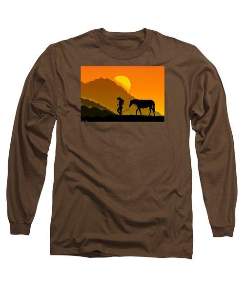 Long Sleeve T-Shirt featuring the digital art Unforgiven by Bernd Hau
