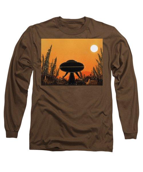 Unidentified Flying Object Landing Long Sleeve T-Shirt