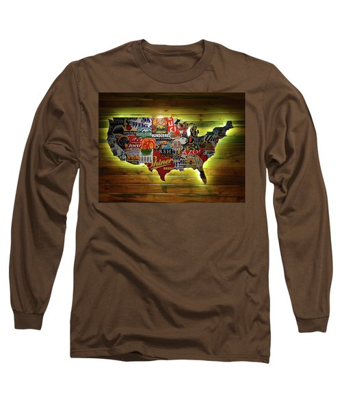 United States Wall Art Long Sleeve T-Shirt