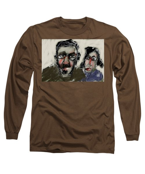 Long Sleeve T-Shirt featuring the painting Untitled 21nov2016 by Jim Vance