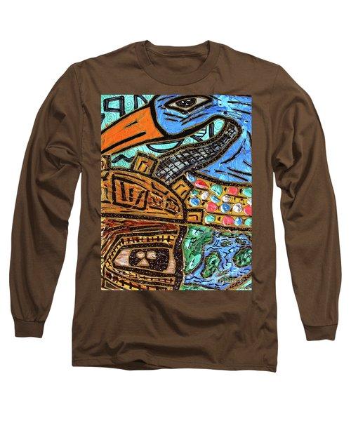 Untitled Olmec And Tehuti Long Sleeve T-Shirt