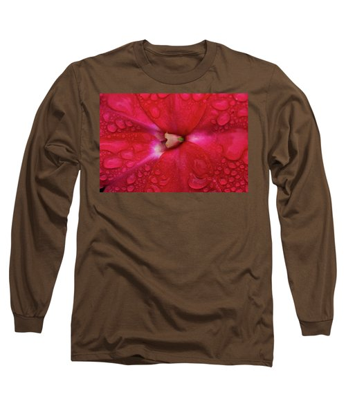 Up Close With Impatiens Long Sleeve T-Shirt