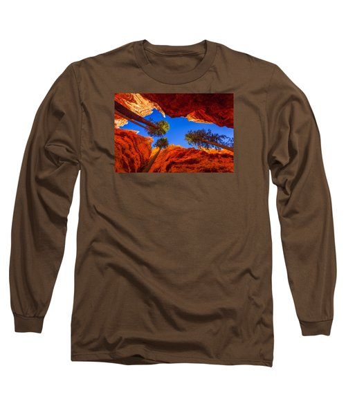 Up From Wall Street Long Sleeve T-Shirt by Chad Dutson